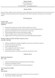 Examples Of Resumes For High School Students With No Experience Interesting Resume Examples For High School Students With No Work Experience