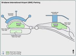Brisbane airport parking map - Map of ...