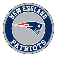 fanmats nfl new england patriots navy 2 ft x 2 ft round area rug