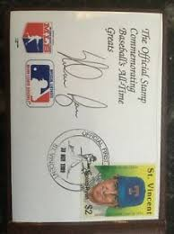 NOLAN RYAN -St. Vincent Commemorative First Day Cover $2 Stamp- Autograph  Signed | eBay