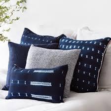 indigo throw pillows. Delighful Indigo Aster Tweed Pillow  Indigo On Throw Pillows L