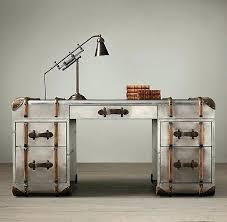 vintage metal office desk. Vintage Metal Desks Trunk Desk Office