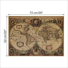 Vintage Nautical Charts 1641 Ancient Nautical Charts Vintage Kraft Paper Poster Wall Stickers Room Decoration 0214 Home Decal Global Maps Mural Art 5 0