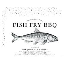 Fish Fry Invitation Template Amartyasen Co