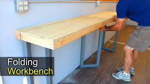 folding workbench. diy folding workbench - how to shipping container shop a