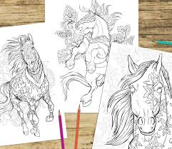 If you love animals horse and adult coloring books you will love.