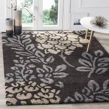 safavieh ultimate shag dark brown slate grey floral area rug 8u0026x27 grey floral area rug u58 floral