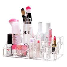 beautyland clear acrylic cosmetic storage display stand holder cosmetic storage rack organizer make up rack case
