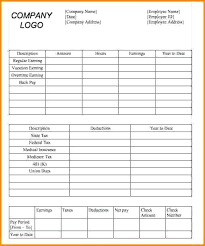Free Paycheck Stub Template In Word Pay 6 Threestrands Co