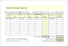 Free Log Template Fascinating Free Mileage Log Template Tracker For Taxes retailbuttonco