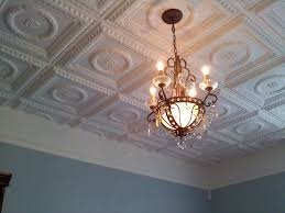 Awesome Chandelier With Appealing Styrofoam Ceiling Tiles For Interior Home  Design