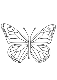 Coloring pages for learning numbers and colors for preschool and kindergarten. Coloring Pages Butterfly Coloring Page