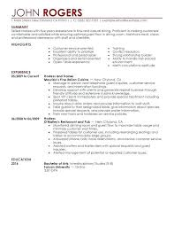 Restaurant Waiter Resumes Restaurant Waitress Resume Sample Sample Restaurant Server Resume