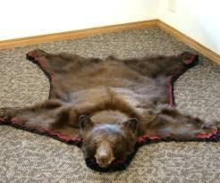 exquisite fake polar bear rug