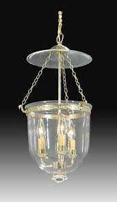 19th century hall lantern with clear glass dome bell jar lighting fixtures