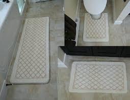 contour bath mat diamond white 3 piece memory foam bath mat contour non slip long