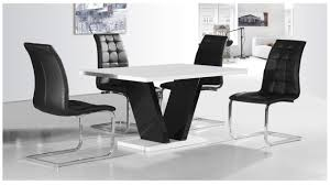 pivero black high gloss dining table set furniturebox view larger