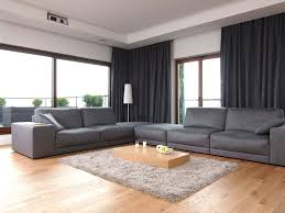 architecture modern livingroom apartment furniture interior decorating ideas with gray sofa ottoman chair white