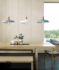 kitchen table pendant lighting. Croft 1 Light Pendant In Brushed Copper/Mint | Lights Lighting Kitchen Table