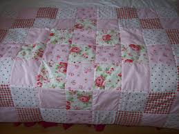 shabby chic quilts | Cath Kidston Shabby Chic Patchwork Cot or bed ... & shabby chic quilts | Cath Kidston Shabby Chic Patchwork Cot or bed quilt  eiderdown style . Adamdwight.com