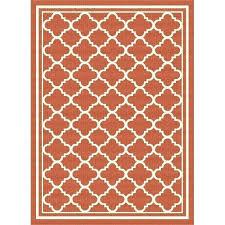 orange area rug 8x10 orange rug 8 x large orange tile indoor outdoor rug garden city