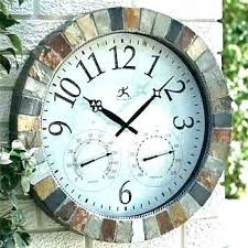 double sided outdoor clock outdoor clock with thermometer a double