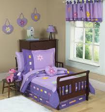 purple daisies toddler girl comforter bedding 70pc bed in a bag set toddler girl bedding