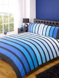 image of blue striped duvet cover luxury