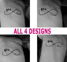 Wrist Tattoo Temporary Infinity Birds Always Forever Love Dream