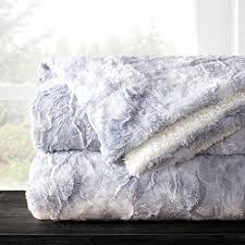 gray faux fur throw. Beautiful Throw Italian Luxury Egyptian Super Soft Faux Fur Throw Blanket  Elegant  Cozy Hypoallergenic Ultra Plush On Gray
