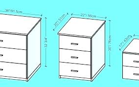 average nightstand height large size