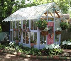 3 recycled window and tile greenhouse texas