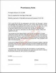 Promissory Note For Personal Loans Promissory Note Real