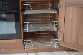 pull out wire baskets for kitchen larder cupboards 300mm for perfect kitchen pull out basket