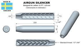 Airgun Silencer Design Airgun Silencer Superior Caliber 177 3d Print Model