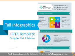 Presentation Template Powerpoint Infographics Template Ppt Flat Ribbons Tall Powerpoint