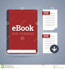 ebook template pdf label stock vector image  ebook template pdf label