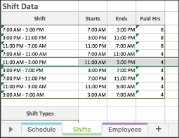 Work Schedule Spreadsheet Template Employee Schedule Template Excel Printable Schedule Template