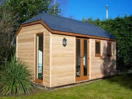 timber garden office. Garden Offices: Bespoke Timber-framed Outbuildings By Gembuild. Photo Shows An Extended Colgate With Larch Cladding In Banbury Timber Office