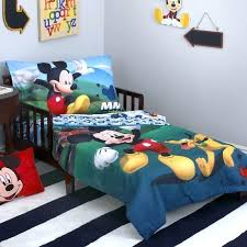 mickey mouse bed set twin mickey mouse playhouse 4 piece toddler bedding set reviews mickey mouse