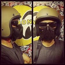 motorcycle leather mask bruto black