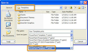 Saving And Using Templates In Powerpoint 2010 Bluewave
