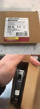 circuit breakers and fuse boxes 20596 square d homeline 2 pole 50 Dual Square D Fuse Box circuit breakers and fuse boxes 20596 new in box square d hom120epd 1 pole 20a Square D Manufacturing Locations
