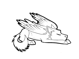 Sleeping winged wolf coloring pages get coloring pages rh getcoloringpages