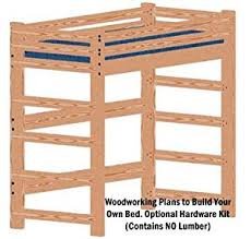 woodworking plans bed. loft or bunk bed diy woodworking plan tall extra long twin and hardware kit for (wood not included) plans