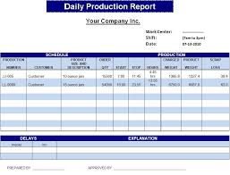 Production Reporting Templates Weekly Production Report Template
