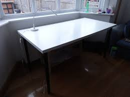 big desk table ikea linnmon adils