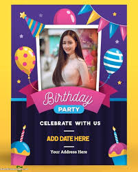 edit custom birthday invitation card