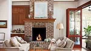 Dogtrot Hallway Fireplace