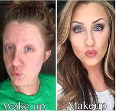 makeup vs no makeup